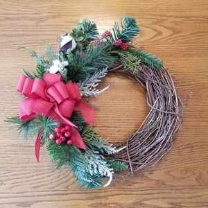 Other - Handmade Farmhouse Old Christmas style with BOW